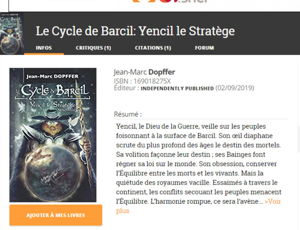 Actu : Le premier avis sur Yencil le Stratège